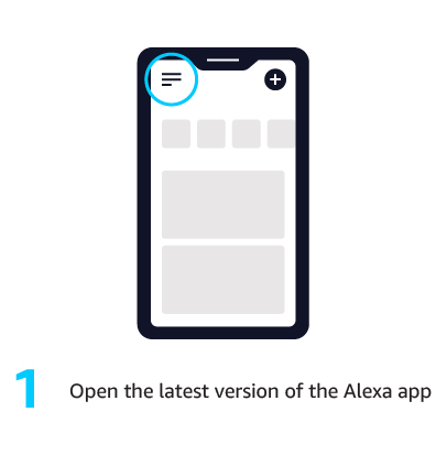 1. Open the latest version of the Alexa app