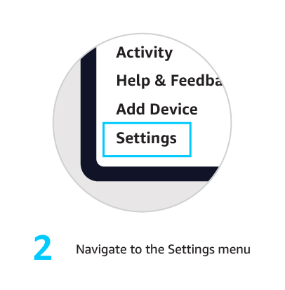 2. Navigate to the Settings menu