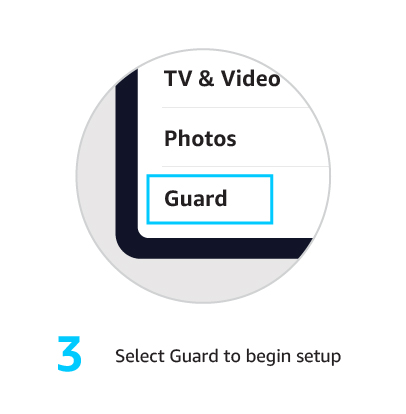 3. Select Guard to begin setup