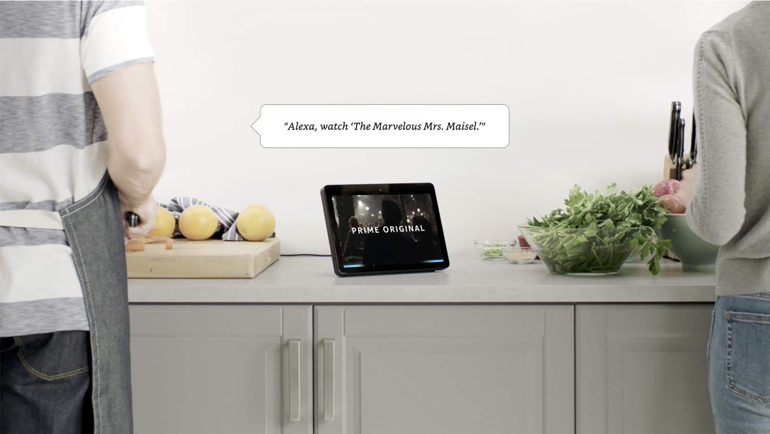 """Echo Show (2nd Gen) – Premium sound and a vibrant 10 1"""" HD screen - Charcoal"""