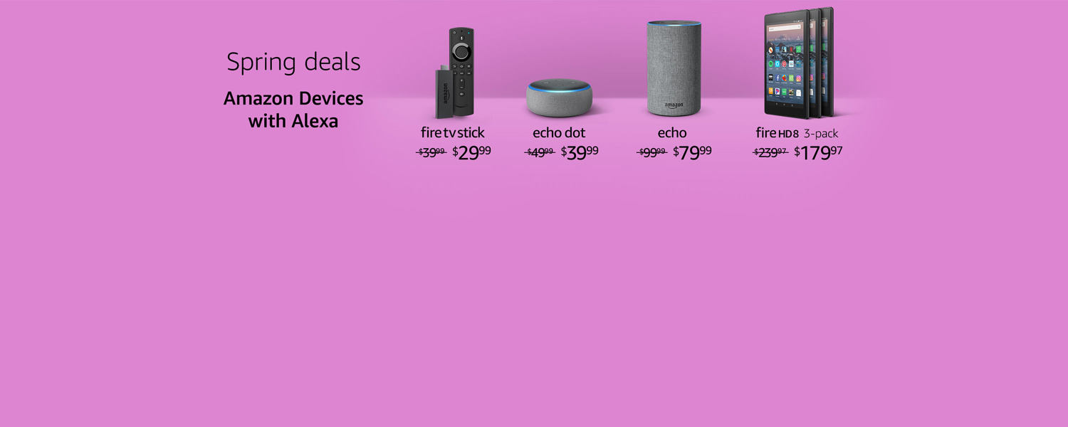 Spring deals| Amazon Devices with Alexa