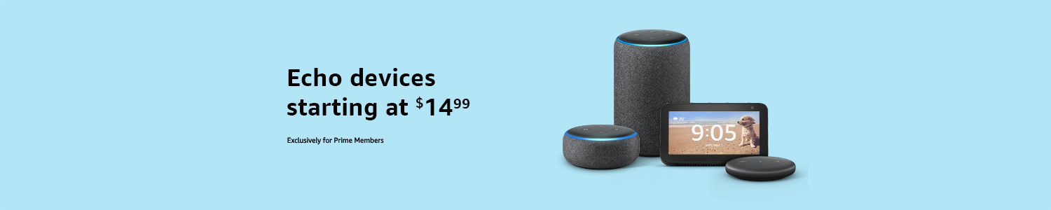 Echo devices starting at $14.99 for Prime members
