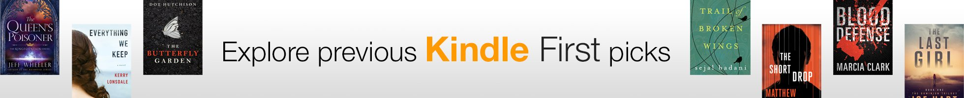 Explore previous Kindle First picks