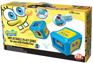 CTA Digital SpongeBob SquarePants Inflatable Play Cube for Kindle Fire Package