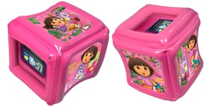 CTA Digital Dora the Explorer Inflatable Play Cube for Kindle Fire