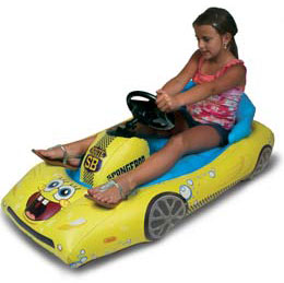 CTA Digital SpongeBob SquarePants Inflatable Sports Car for Kindle Fire