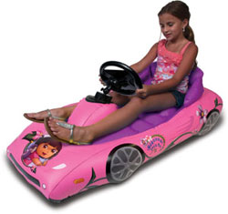 CTA Digital Dora the Explorer Inflatable Sports Car for Kindle Fire