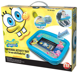 CTA Digital SpongeBob SquarePants Universal Activity Tray for Kindle Fire Package