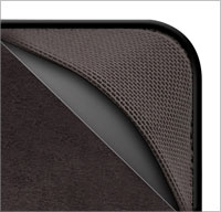 Form-fit elastic mesh corners and textured grips secure Kindle inside case