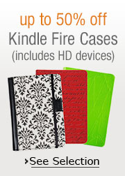 up to 50% off Kindle Fire Tablet Covers and Cases