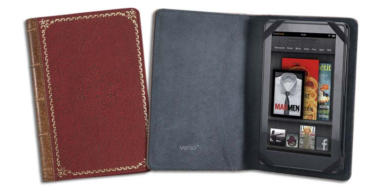 Verso Prologue Red Cover for Kindle Fire and Kindle Keyboard