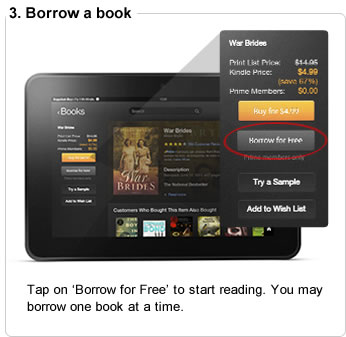 Tap on 'Borrow for Free' to start reading. You may borrow one book at a time.