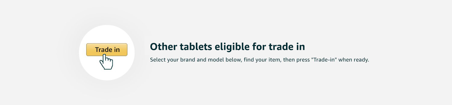 Other tablets eligible for Trade In