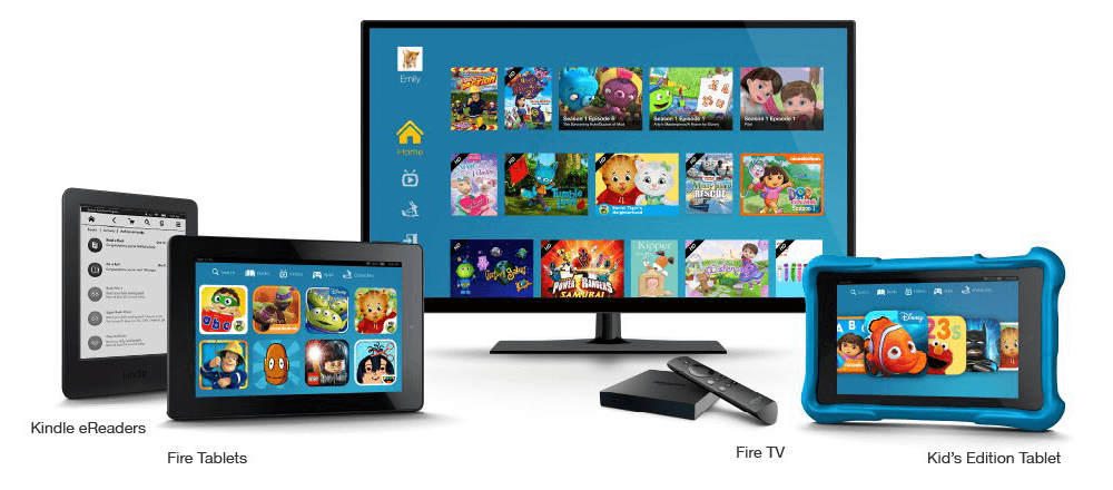 Amazon FreeTime Unlimited is available on Fire Tablets, eReaders, FireTV