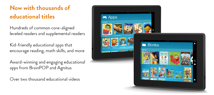 Kindle FreeTime Educational Features