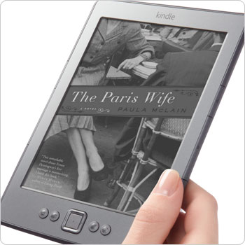Kindle e-reader showing home screen