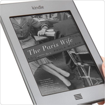 Kindle Touch e-reader showing home screen