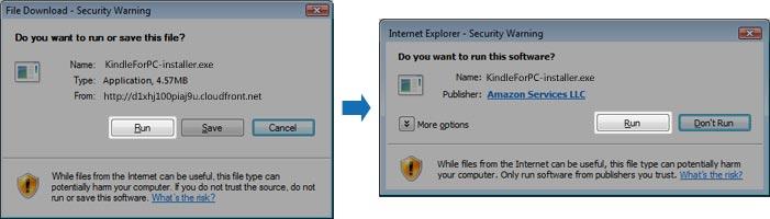 File Download - Security Warning Dialog Box Image