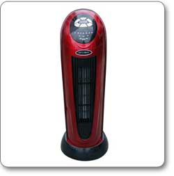Optimus H-7328 22-Inch Oscillating Tower Ceramic Heater with Remote Control
