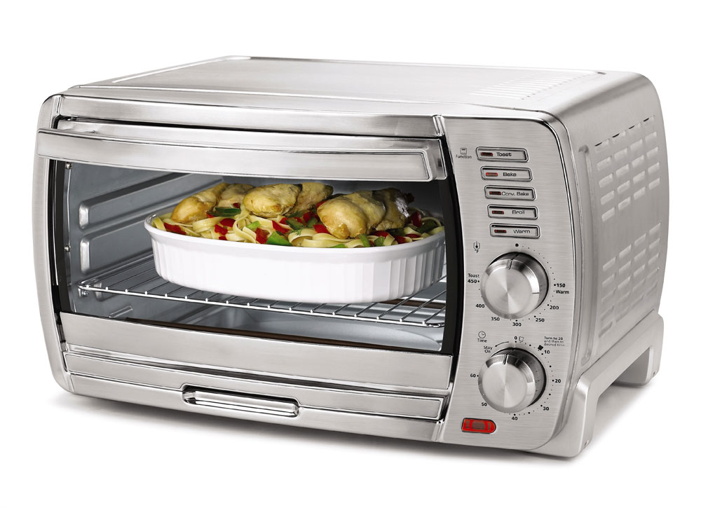 Amazon Com Oster Tssttvskbt 6 Slice Large Capacity Toaster Oven Brushed Stainless