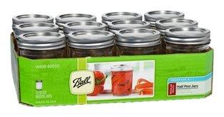 Set of 12 Half Pint Jars