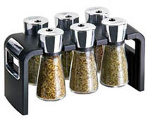 Cole and Mason 6 jar spice rack
