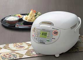 $189.99 Zojirushi NS-ZCC10 5.5 cup Neuro Fuzzy Rice Cooker and Warmer In Premium White