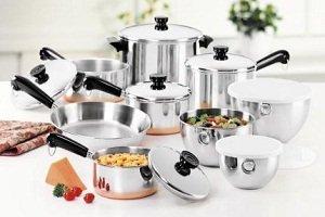 Amazoncom Revere 1400 Line 7 Piece Set Cookware Sets Kitchen