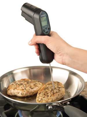 Combo Laser and Probe Cooking Thermometer