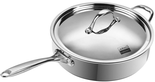 Amazon Com Cooks Standard 11 Inch 5 Quart Multi Ply Clad Deep Saute Pan With Lid Stainless Steel Kitchen Dining