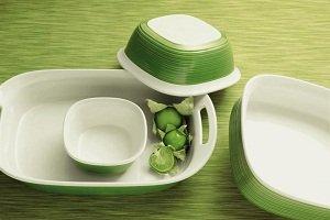 Amazon.com: CorningWare Etch 7-Piece Bakeware Set, Grass