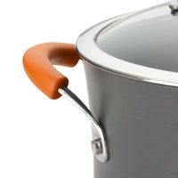 Grippy handles feature striking orange padding for a comfortable feel.