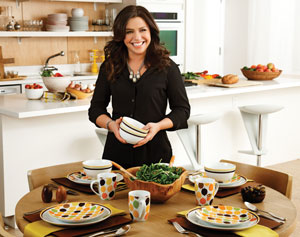 Rachael Ray Dinnerware Little Hoot 16-Piece Porcelain Dinnerware Set, White  - 58069