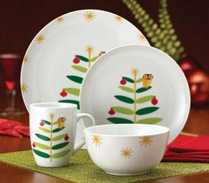 Rachael Ray Dinnerware Holiday Hoot 16-Piece Dinnerware Set & Amazon.com | Rachael Ray Dinnerware Holiday Hoot 16-Piece Dinnerware ...