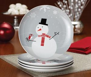 Rachael Ray Dinnerware Little Hoot and the Snowman 4-Piece Dessert Plate Gift Set & Amazon.com   Rachael Ray Dinnerware Little Hoot and the Snowman 4 ...