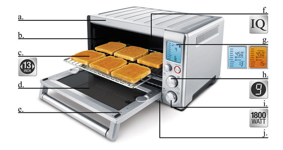 Breville Countertop Convection Oven Silver : .com: Breville BOV800XL Smart Oven 1800-Watt Convection Toaster Oven ...