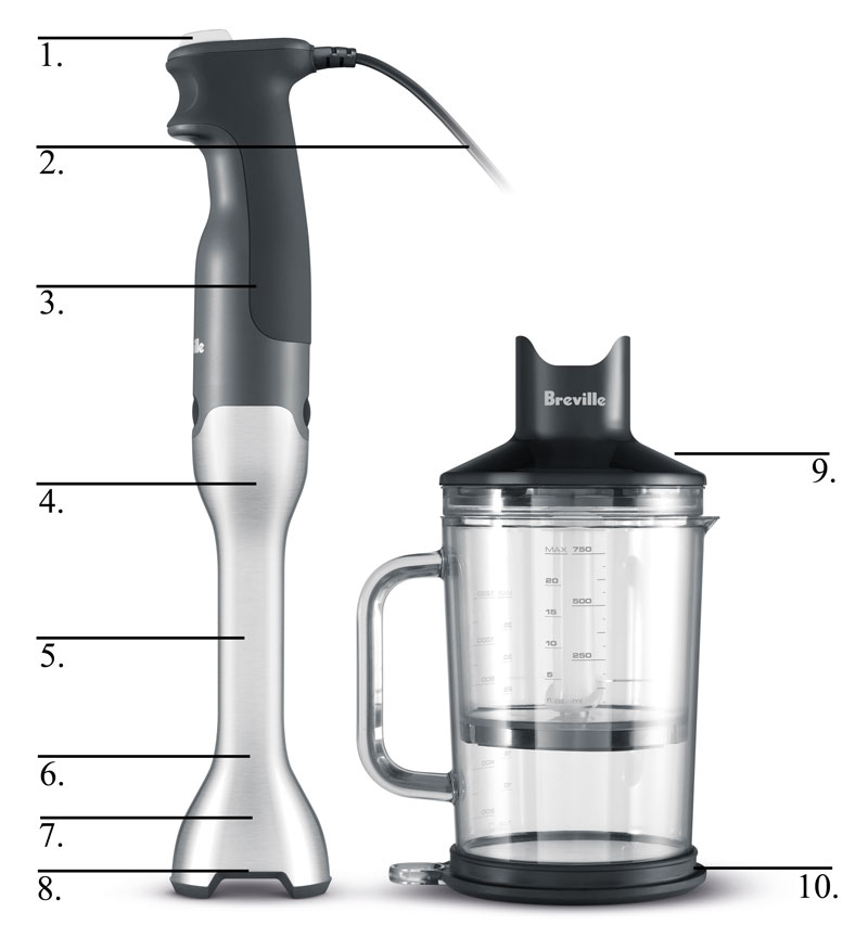 Small Hand Blender ~ Amazon breville bsb xl control grip immersion