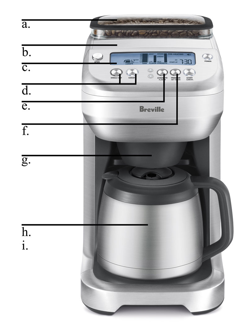 Coffee Maker Clean Button : Amazon.com: Breville BDC600XL YouBrew Drip Coffee Maker: Drip Coffeemakers: Kitchen & Dining