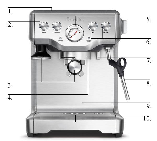 Specifications Of Breville bes840xl the infuser espresso machine
