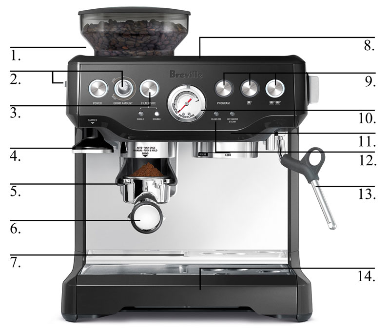 Amazon Com  Breville Bes870bsxl The Barista Express Coffee