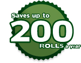 Saves up to 200 ROLLS a year