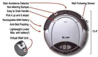 irobot roomba 3100 pro elite robotic floor vacuum home kitchen. Black Bedroom Furniture Sets. Home Design Ideas