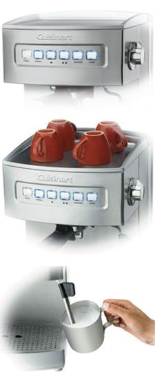 Amazon.com: Cuisinart EM-200NP1 Máquina programable para café expreso de 15 bares, 12.8 pulgadas de largo x 9.25 pulgadas de ancho x 10.63 pulgadas de alto, acero inoxidable: Kitchen & Dining