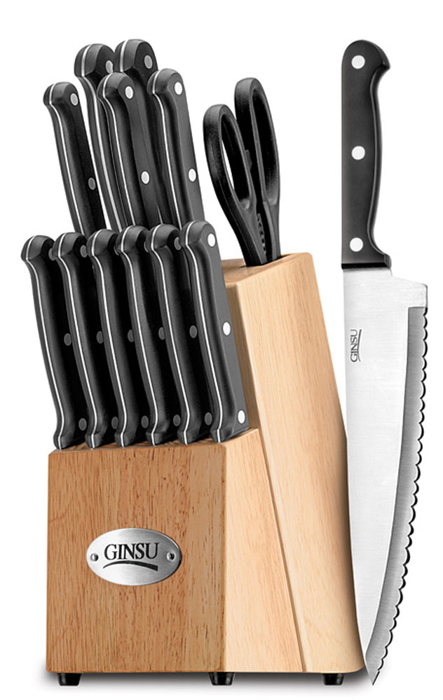 Ginsu Essential series 14 Piece Knife Set with Block
