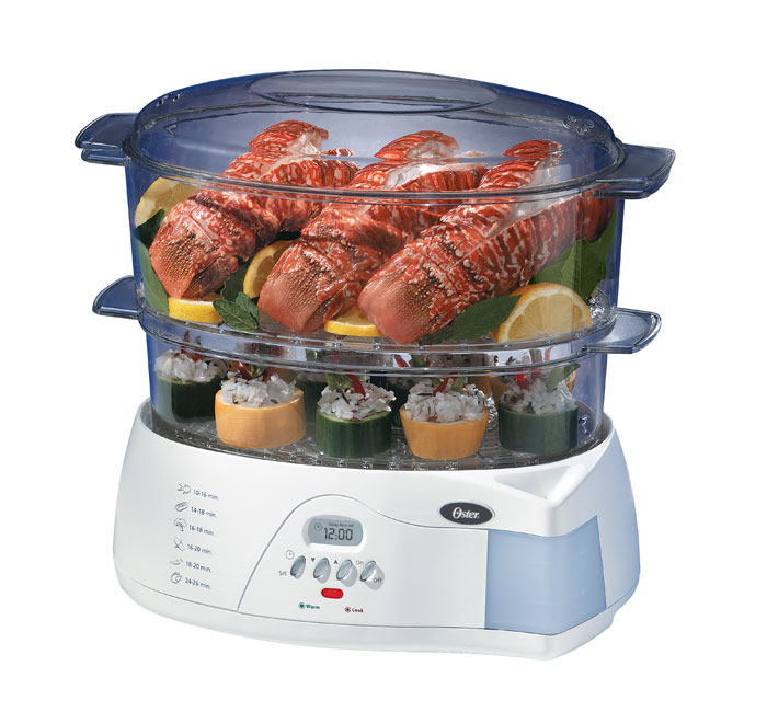amazon com oster 5712 electronic 2 tier 6 1 quart food steamer rh amazon com