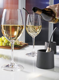 Chill your favorite glass of wine in minutes