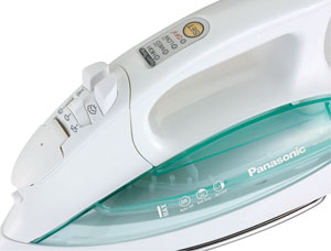 B000P6CRLO controls t Panasonic NI L70SR Cordless Iron, Curved Stainless Steel Soleplate, White/Clear Green