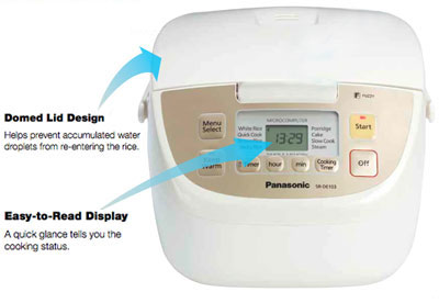 Microcomputer-controlled Fuzzy Logic rice cooker