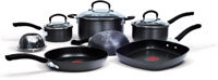 Jamie Oliver by T-fal C942SA64 Nonstick Hard Anodized Thermo-Spot Heat Indicator 10-Piece Cookware Set
