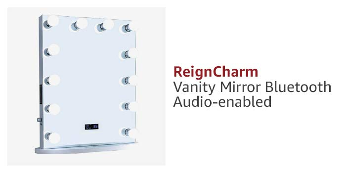 ReignCharm Vanity Mirror Bluetooth Audio-enabled